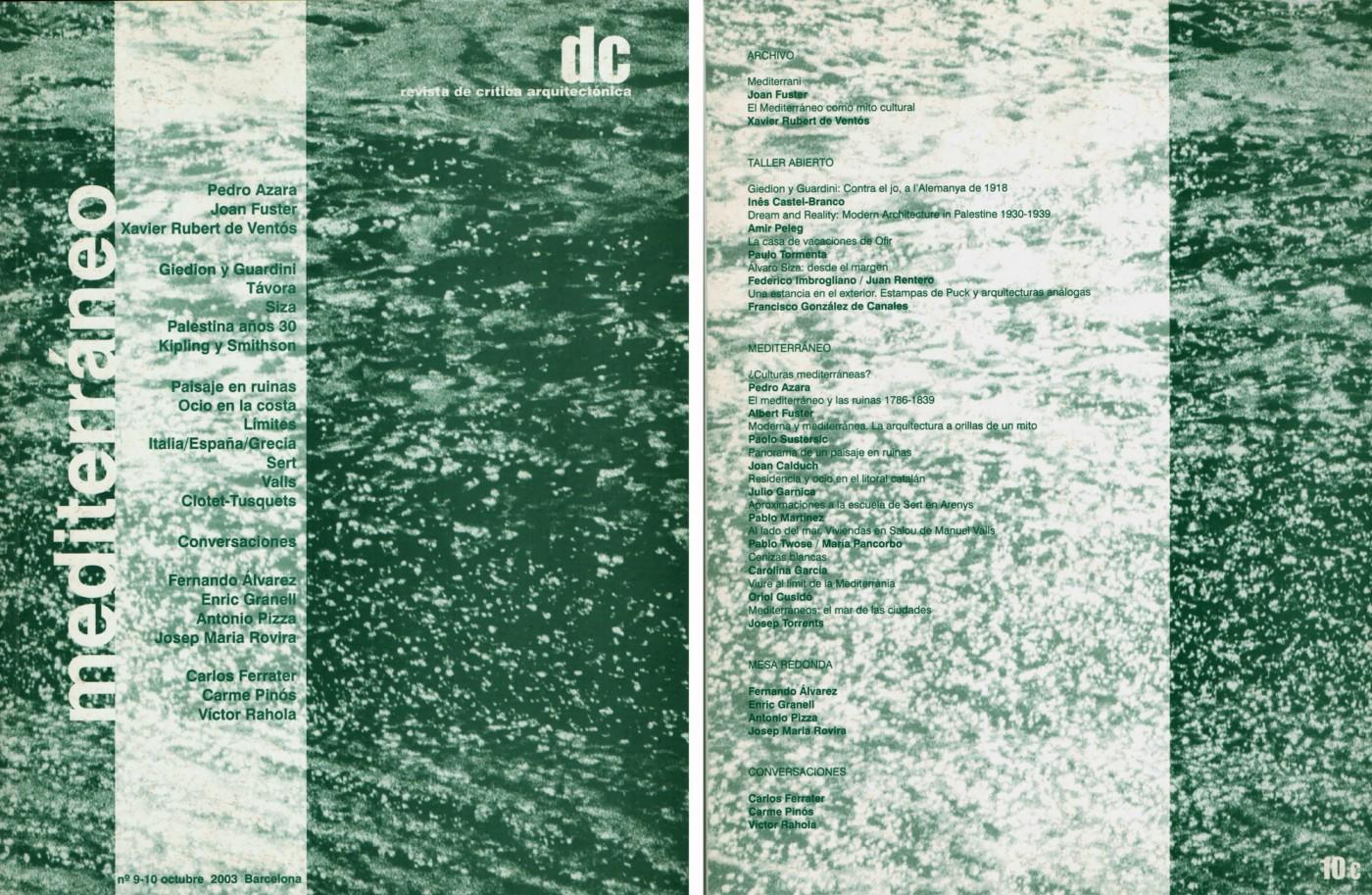 'DC revista de crítica arquitectònica', n.9-10