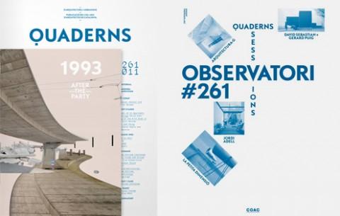 Revista 'Quaderns d'arquitectura i urbanisme' núm.261