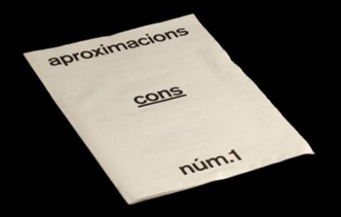 Revista 'aproximacions núm.1. cons'