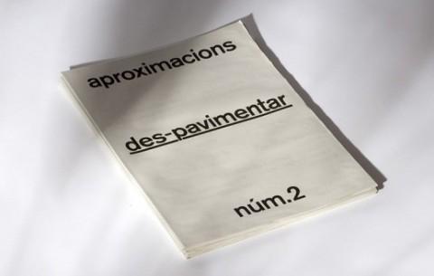 Revista 'aproximacions núm.2. des-pavimentar'